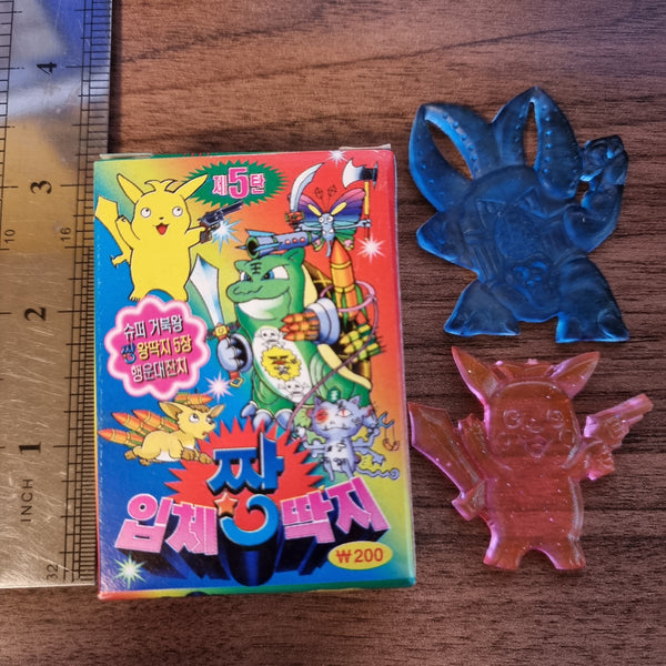 Korean Deranged / Deformed Pokemon Rubber Ddakji -  1x Blind Box Pack