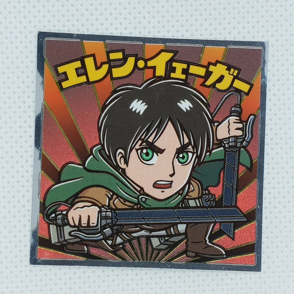 Attack on Titan Bikkuriman Sticker - Eren