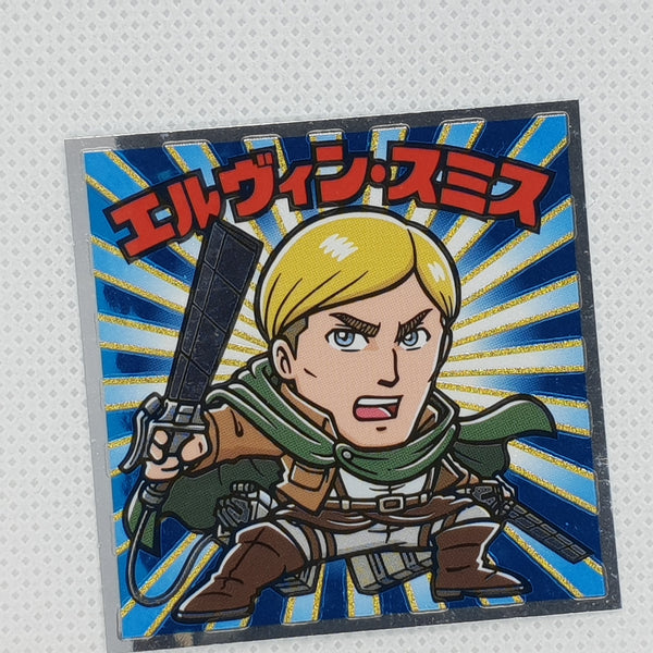 Attack on Titan Bikkuriman Sticker - Erwin