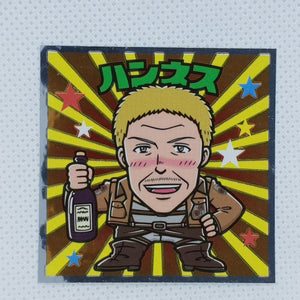 Attack on Titan Bikkuriman Sticker - Hannes
