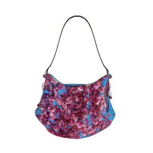 Cherry Blossoms Blue Origami Tote