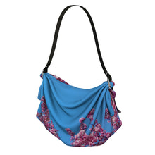 Load image into Gallery viewer, Cherry Blossoms Blue Origami Tote