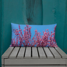 Load image into Gallery viewer, Cherry Blossoms Blue Throw Pillow