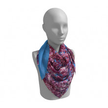 Load image into Gallery viewer, Cherry Blossoms Blue Square Scarf