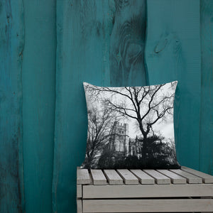 Cathedral Trees Throw Pillow