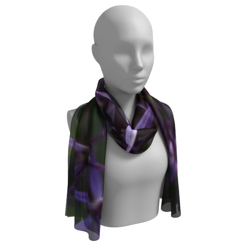 Purple Posey Long Scarf