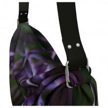 Load image into Gallery viewer, Purple Posey Origami Tote