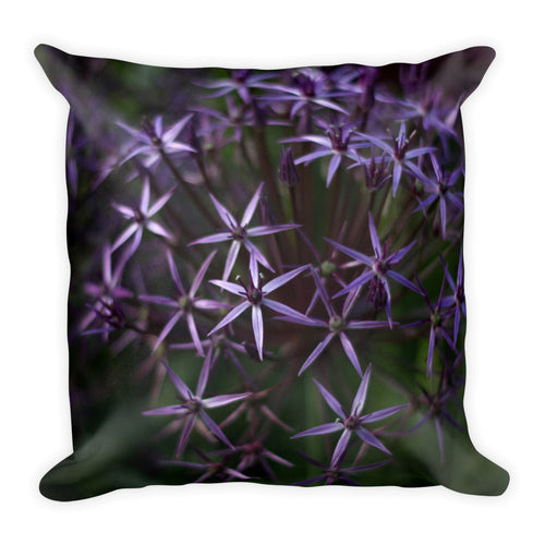 Purple Posey Throw Pillow