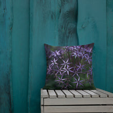 Load image into Gallery viewer, Purple Posey Throw Pillow