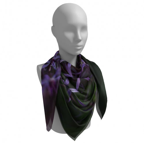 Purple Posey Square Scarf