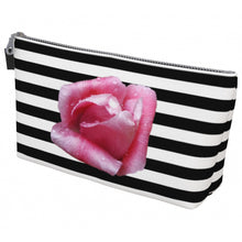 Load image into Gallery viewer, Rose & Stripes Makeup Bag