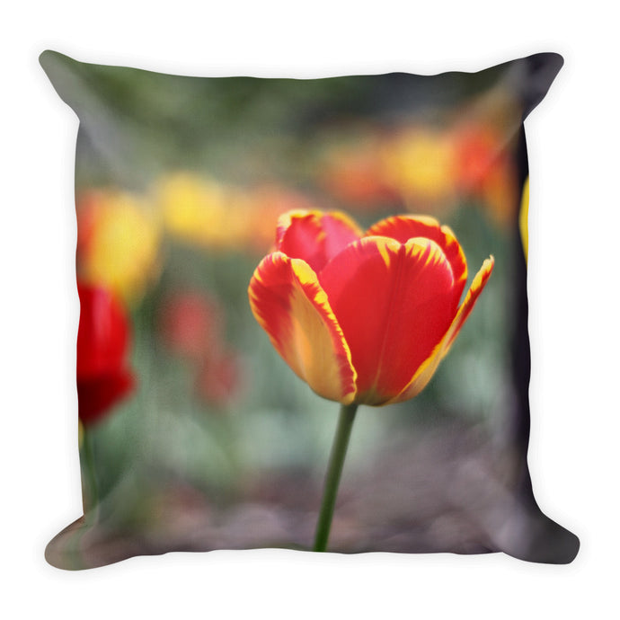 Totally Tulip Throw Pillow