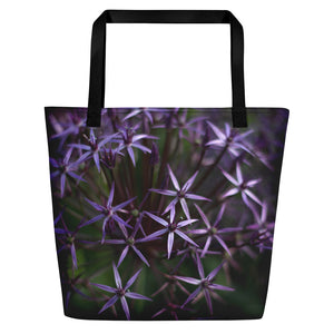 Purple Posey Logo Beach Bag
