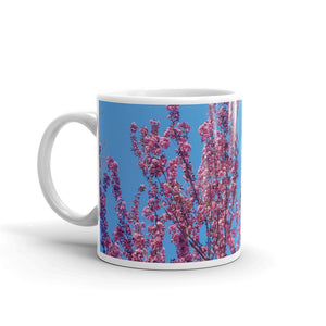 Cherry Blossoms Blue Mug