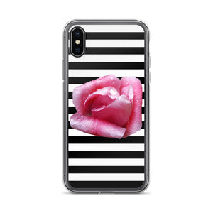 Rose & Stripes iPhone Case