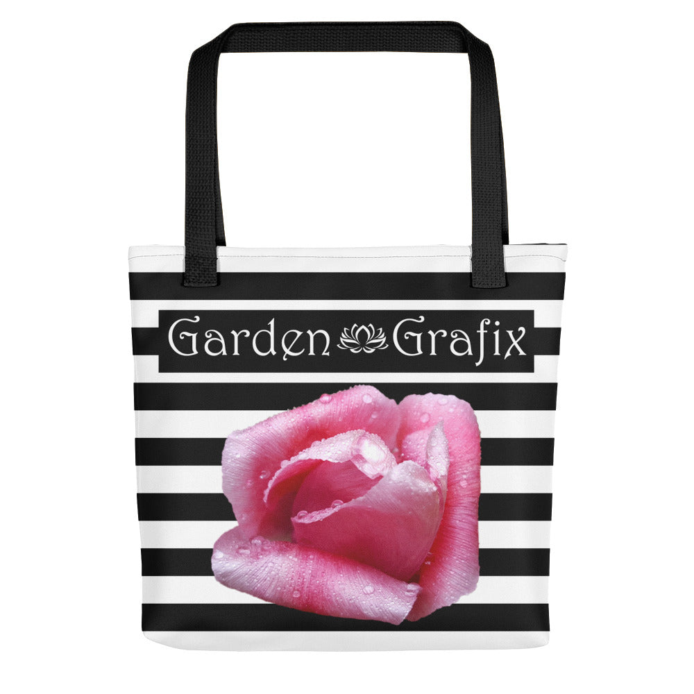 Rose & Stripes Logo Tote