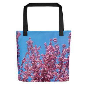 Cherry Blossoms Blue Tote
