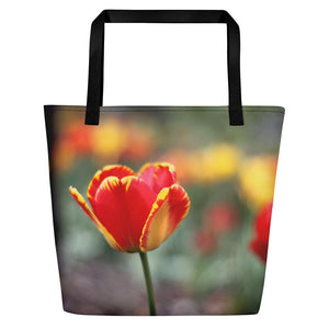 Totally Tulip Logo Beach Bag
