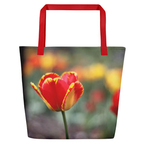 Totally Tulip Beach Bag