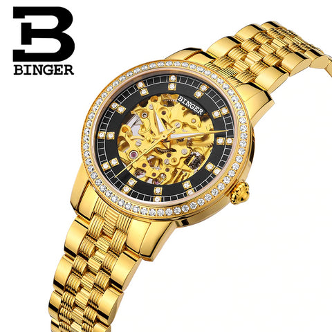 Image of Binger Swiss Mechanical Miyota Luxury Couple Watch B 5051