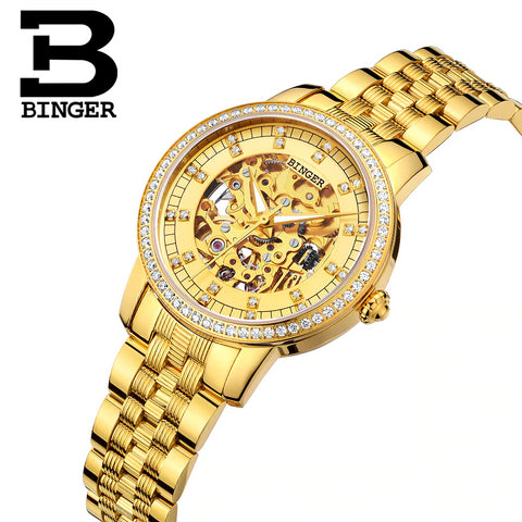 Binger Swiss Mechanical Miyota Luxury Couple Watch B 5051