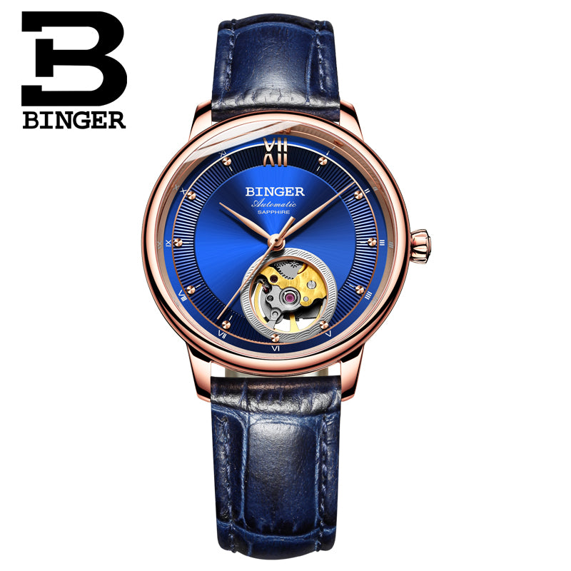 Binger Swiss Ultra thin Super Luxury Tourbillon Men Watch B 1108