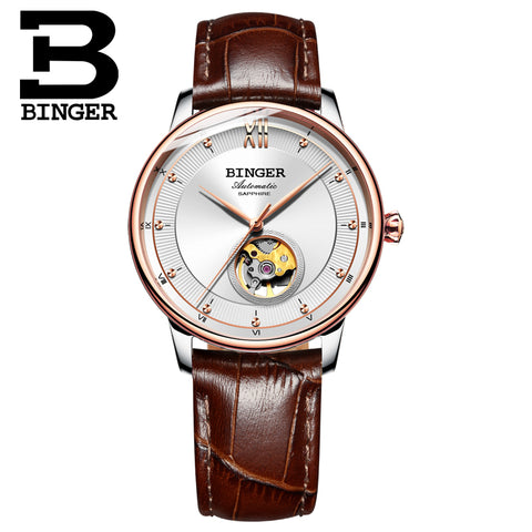 Binger Swiss Ultra thin Super Luxury Tourbillon Women Watch B 1108