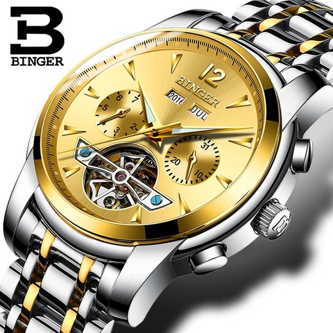Binger Swiss Tourbillon Men's Watch B 8608