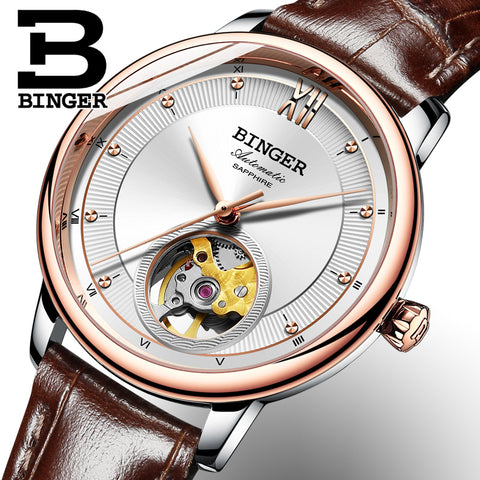 Image of Binger Swiss Ultra thin Super Luxury Tourbillon Women Watch B 1108
