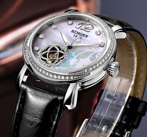 Image of Binger Swiss Tourbillon Mechanical Watch Women B 1132