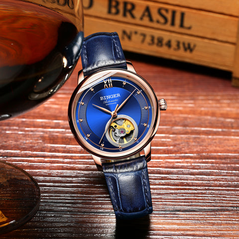 Image of Binger Swiss Ultra thin Super Luxury Tourbillon Men Watch B 1108