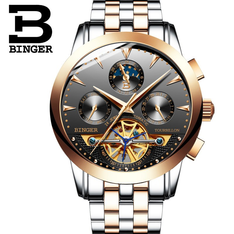 Binger Swiss Turbo Tourbillon Mechanical Watch B 1188
