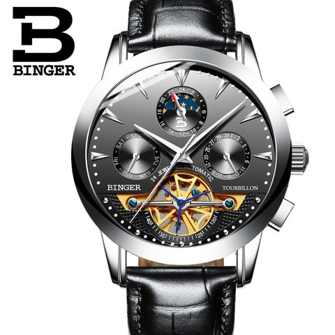 Image of Binger Swiss Turbo Tourbillon Mechanical Watch B 1188