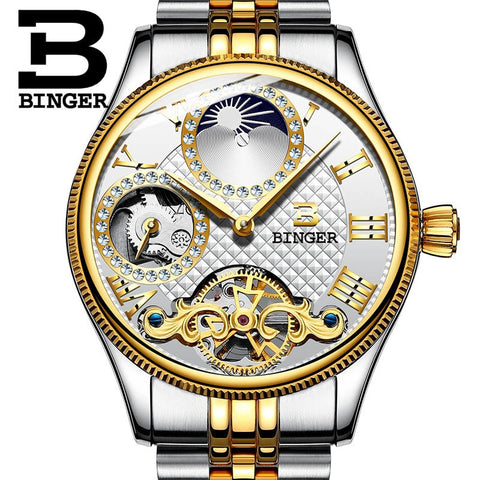 Image of Binger Swiss Unique Mechanical Watch Men B 1175