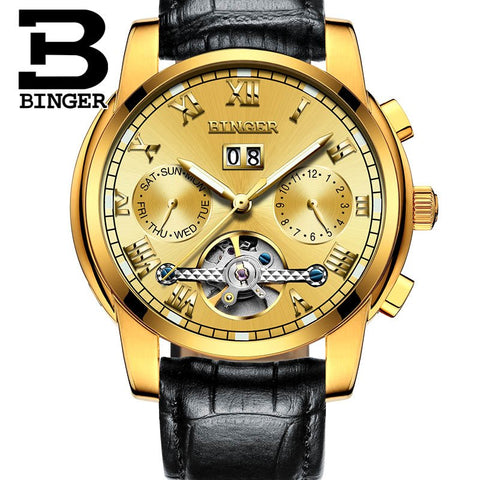 Image of Binger Swiss Sapphire Tourbillon Watch Men B 8601