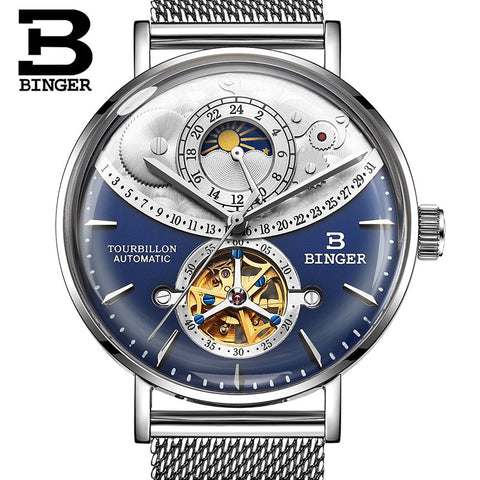 Binger Swiss Exquisite Mechanical Watch Men B 10002