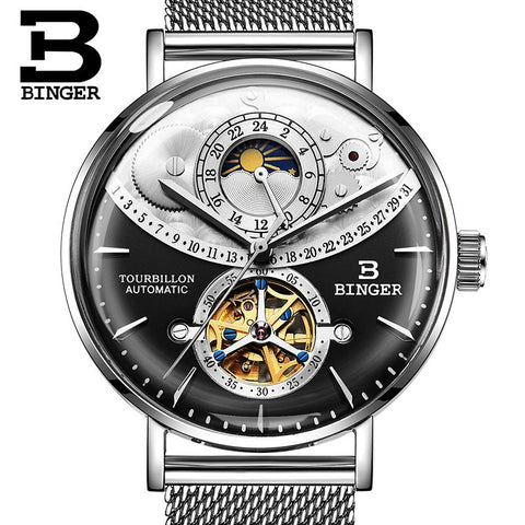Image of Binger Swiss Exquisite Mechanical Watch Men B 10002