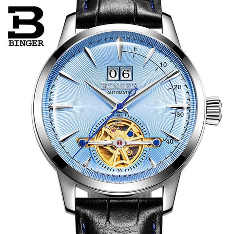 BINGER Swiss Alpha Atmosphere Mechanical Tourbillon Watch B 10009