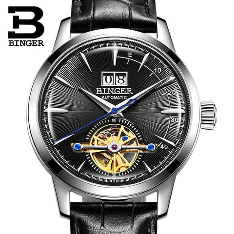 Image of BINGER Swiss Alpha Atmosphere Mechanical Tourbillon Watch B 10009