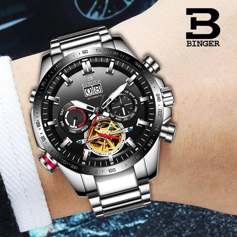 Binger Swiss Speedo Mechanical Watch B 10003C