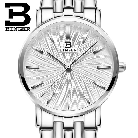 Image of Binger Swiss Ultra thin Quartz Watch Women B 3051