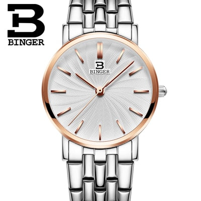 Binger Swiss Ultra thin Quartz Watch Women B 3051