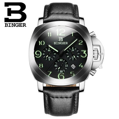 Image of Binger Swiss Luminous Quartz Watch Men B 9015
