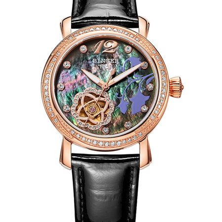 Binger Swiss Tourbillon Mechanical Watch Women B 1132