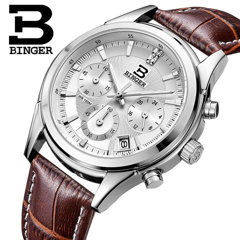 Image of Binger Swiss Alpha Quartz Watch Men B 6019