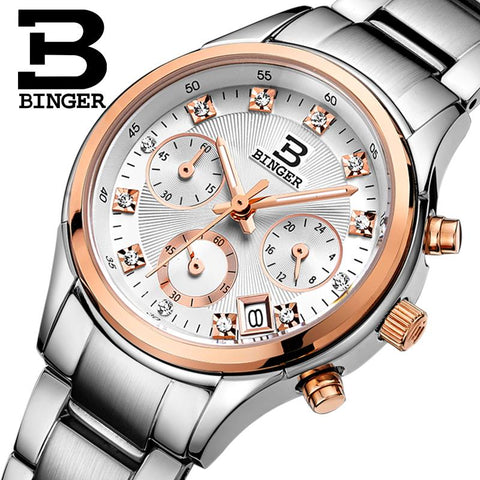BINGER Swiss Quartz Watch Women B 6019