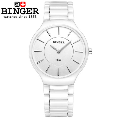 Binger Swiss Ceramic Quartz Men's Watch B 8006
