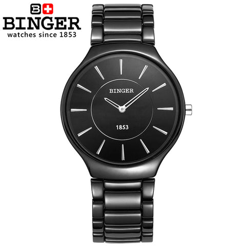 Image of Binger Swiss Ceramic Quartz Men's Watch B 8006