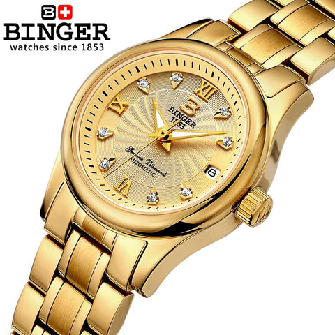 BINGER Swiss Luxury Mechanical Watch Women B 603L-8