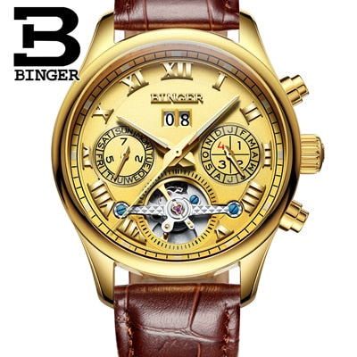 Binger Swiss Tourbillon Mechanical Men's Watch B 8602